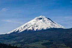 Vulcano del Cotopaxi nell'Ecuador Fotografia Stock Libera da Diritti