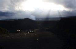 Vulcano del cratere Immagine Stock