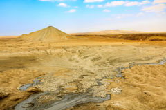 Vulcano del fango Fotografie Stock