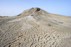 Vulcano del fango in Gobustan, Azerbaigian Fotografia Stock Libera da Diritti