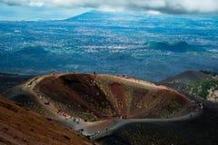 Vulcano dell'Etna fotografia stock libera da diritti