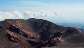 Vulcano dell'Etna del supporto nell'azione Fotografia Stock