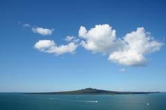Vulcano dell'isola di Rangitoto Fotografia Stock
