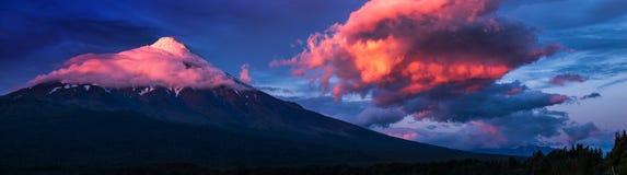 Vulcano dell'Osorno Immagini Stock