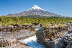 Vulcano dell'Osorno fotografie stock libere da diritti