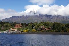 Vulcano dell'Osorno, Cile Fotografie Stock Libere da Diritti
