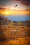 Vulcano delle KUCI di Rano, isola di pasqua Immagine Stock Libera da Diritti