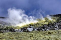 Vulcano dello zolfo del Galapagos Fotografia Stock