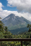Vulcano di Arenal in Costa Rica Fotografia Stock