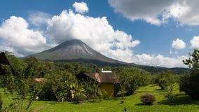 Vulcano di Arenal in Costa Rica Immagini Stock Libere da Diritti