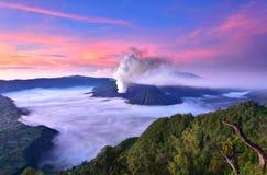 Vulcano di Bromo del supporto Fotografia Stock Libera da Diritti