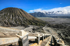 Vulcano di Bromo in East Java Fotografia Stock