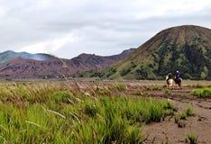 Vulcano di Bromo il colore Fotografia Stock Libera da Diritti