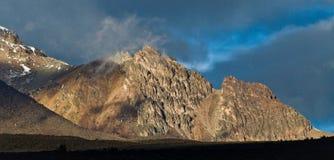 Vulcano di Chimborazo nell'Ecuador andino Fotografia Stock Libera da Diritti