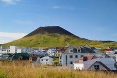 Vulcano di Eldfell immagine stock libera da diritti