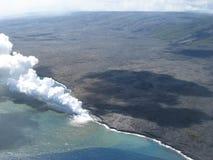 vulcano di eruzione fotografie stock