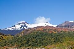 Vulcano di Etna in autunno Fotografia Stock