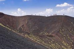 Vulcano di Etna, Italia fotografia stock