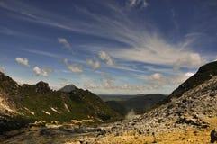 Vulcano di Gunung Sibayak Immagini Stock Libere da Diritti