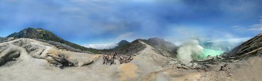 Vulcano di Ijen in Indonesia Immagini Stock Libere da Diritti