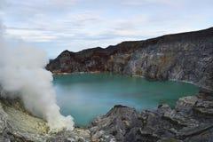 Vulcano di Ijen Java, Indonesia Fotografia Stock Libera da Diritti