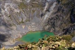 Vulcano di Irazu, Costa Rica Immagini Stock