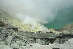 Vulcano di Kawah Ijen - East Java Fotografie Stock
