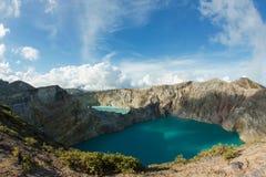 Vulcano di Kelimutu, isola del Flores, Indonesia Immagine Stock