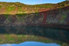 Vulcano di Kerid Fotografie Stock Libere da Diritti