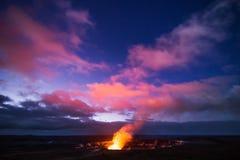 Vulcano di Kilauea Fotografia Stock Libera da Diritti