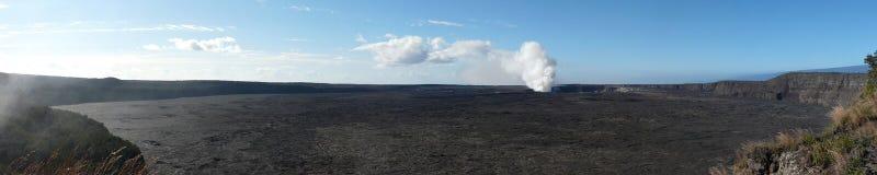 vulcano di kilauea dell'Hawai della caldera Immagini Stock Libere da Diritti