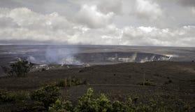 Vulcano di Kilauea prima dell'eruzione sulla grande isola Fotografie Stock Libere da Diritti
