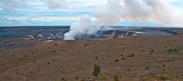 Vulcano di Kilauea sulla grande isola dell'Hawai Fotografia Stock