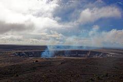 Vulcano di Kilauea sulla grande isola, Hawai Fotografie Stock Libere da Diritti