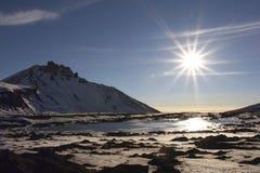 Vulcano di Kluchevskoy. fotografia stock libera da diritti