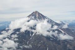 Vulcano di Koryak Fotografia Stock