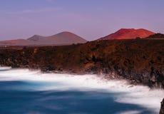 Vulcano di Lanzerote Fotografia Stock