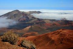 Vulcano di Maui Fotografie Stock