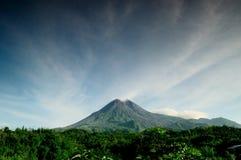 Vulcano di Merapi Fotografia Stock