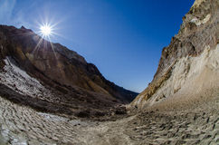 Vulcano di Mutnovsky Fotografia Stock Libera da Diritti