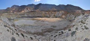 Vulcano di Nisyros, il cratere della st Stephen Fotografie Stock
