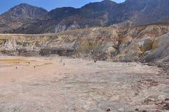 Vulcano di Nisyros, il cratere di St Stephen Fotografie Stock Libere da Diritti