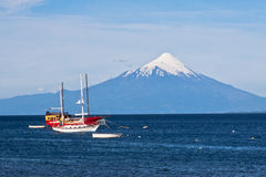 Vulcano di Osorno nel Cile Fotografia Stock