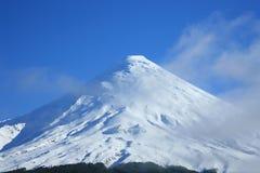 Vulcano di Osorno, Patagonia Fotografia Stock Libera da Diritti