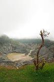 Vulcano di parahu di Tangkuban Fotografie Stock Libere da Diritti