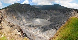 Vulcano di parahu di Tangkuban Fotografia Stock Libera da Diritti