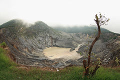 Vulcano di perahu di Tangkuban Fotografia Stock Libera da Diritti