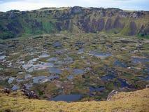 Vulcano di Rano Kao immagini stock libere da diritti