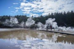 Vulcano di Taupo sull'isola del nord in Nuova Zelanda Fotografia Stock Libera da Diritti
