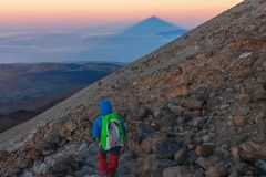 Vulcano di Teide in Tenerife, Spagna fotografia stock libera da diritti